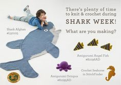 I know I have a couple Shark Week friends putt here! This is for you! Shark Week is a Great Time to Knit