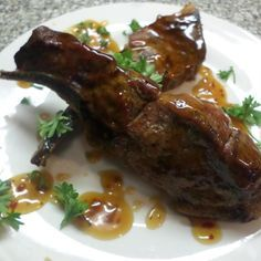Smoked Country Style Ribs w/ General Tso Sauce