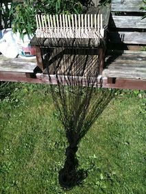 Outdoor Art: Using Peg Looms to Weave | Creative STAR Learning | I'm a teacher, get me OUTSIDE here!