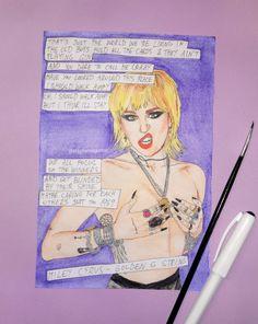 Miley Cyrus, My Arts, Fan Art, Etsy Shop, Comics, Artist, Painting, Instagram, Lana Del Rey