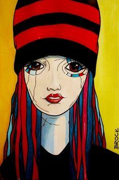 "Saatchi Online Artist Kyle Brock; Painting, ""Little Party Girl"" #art"