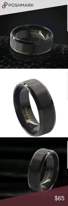 Tungsten Carbide Ring Size 11 Tungsten Carbide Ring Size 11 AprilsPlace Accessories Jewelry