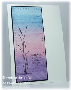 Stamping Moments; uses Distressed inks: Faded Jeans, Worn Lipstick, Dusty Concord