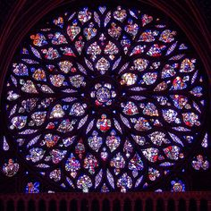 Rose window of Sainte Chapelle . . . the very definition of medieval masterpiece.