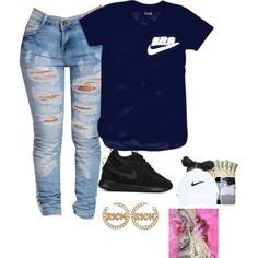 A fashion look from October 2015 featuring NIKE sneakers. Browse and shop related looks.