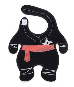 Stealth Baby Ninja Bib Prepares Infants For Silent Meal Time Warfare -  #baby #cute #ninja