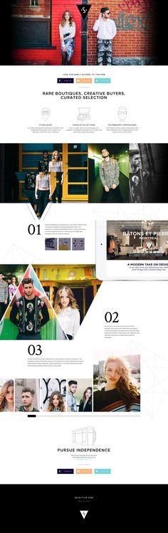 Web Design // Fashion Layout