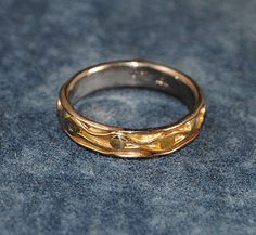 18K Palladium White Gold and 18K Yellow Gold Composite Ring