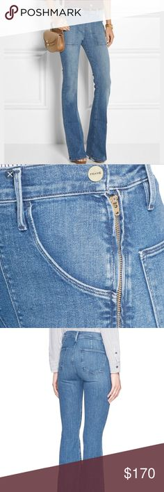 NWT Frame Le Flare de François jeans size 25 Super cute flare Frame jeans with side zip in size 25, new with tags. Frame Denim Jeans Flare & Wide Leg