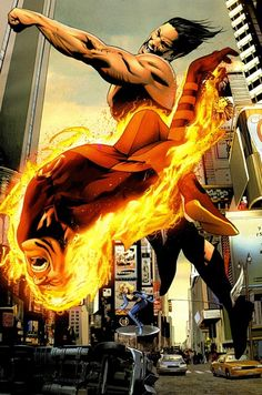 The Human Torch (Johnny Storm) & The Invisible Woman (Sue Storm) vs Namor