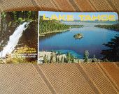 Vintage Lake Tahoe Post Card Souvenir Booklet with 10 Large/9 Small Cards for Scrapbooking, Collage, Card, or For Your Personal Collection by CheekyBirdy on Etsy