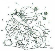 Weihnachts-Malbild