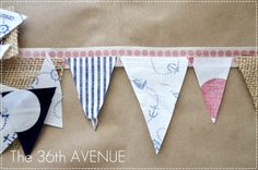 All you need is Washi Tape, fabric, scissors and iron.