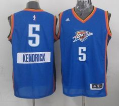 Oklahoma Thunder #5 Kendrick Perkins light Blue 2014-15 Christmas Day Jersey 24.0$