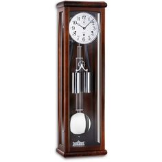 Howard Miller, Grandfather Clock, Modern Shop, Walnut Finish, Old And New, Wood Art, High Gloss, Living Rooms, Chrome