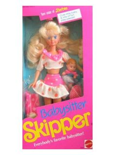 Mattel Barbie Babysitter SKIPPER Doll This is so much fun seeing all my old toys!