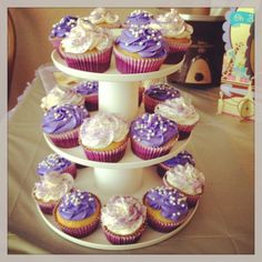 Purple cupcakes - FB: Cakes By Rory