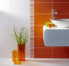 Bathroom Ideas Orange boxed in sink? (not particularly this one) | bathroom