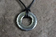 Ogham ring pendant on leather thong Celtic, Washer Necklace, Pendant, Rings, Leather, Jewelry, Jewlery, Jewels, Trailers