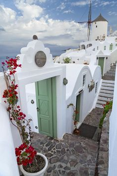 Travel Inspiration for Greece - Santorini. by RudyBalasko ~ Path in Oia - Santorini, Greece* Dream Vacations, Vacation Spots, Oh The Places You'll Go, Places To Travel, Wonderful Places, Beautiful Places, Oia Santorini, Santorini Island, Reisen In Europa