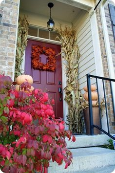 How to paint your front door without removing it. Thrifty Decor Chick