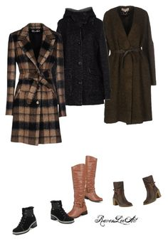 """Coats and boots"" by ravenleeart ❤ liked on Polyvore featuring Vanessa Bruno, Swiss Chriss, CristinaEffe, Journee Collection, John Lewis and Anne Klein"