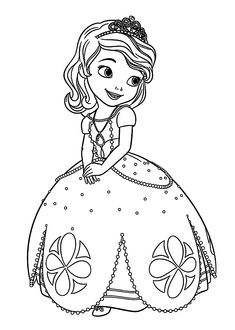 The smiling face of princess Sofia the First coloring page | Free ...