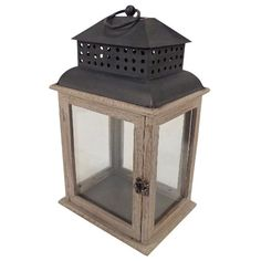 Smith & Hawken® Wooden Lantern Rectangle