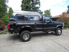 1992 FORD F350 1 Ton Dually Pickup 4WD Single Cab with Canopy...similar to the one we had.  Great for camping and for hauling large stuff/amounts.  It's a single cab, soooo the truck bed space is at its maximum.