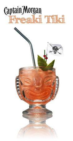 If the sun's out, the rum's out. Cranberry juice, orange juice, and coconut rum make a delicious Freaki Tiki! #cocktailrecipes