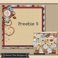 Thursday's Guest Freebies ~ Sweet Pea Designs ✿ Follow the Free Digital Scrapbook board for daily freebies: https://www.pinterest.com/sherylcsjohnson/free-digital-scrapbook/  ✿ Visit GrannyEnchanted.Com for thousands of digital scrapbook freebies. ✿