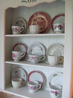Simple tea cup display.