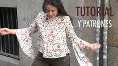 Beautiful flowy sleeve top. Free pattern & tutorial