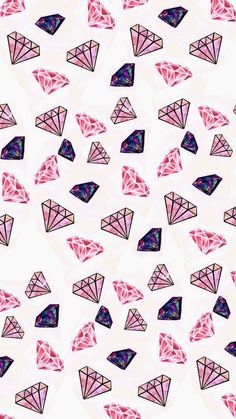 Fondo de Pantalla Whatsapp - Diamonds - Wallpaper World Wallpaper World, Cute Wallpaper For Phone, More Wallpaper, Cute Wallpaper Backgrounds, Galaxy Wallpaper, Pattern Wallpaper, Cute Wallpapers, Pink Diamond Wallpaper, Purple Wallpaper