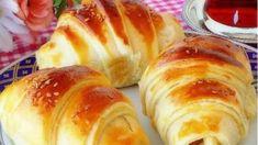 Patatesli Katmer Poğaça Bread Toast, Eastern Cuisine, Iftar, Breakfast For Kids, Hot Dog Buns, Baked Potato, Sushi, Blueberry, French Toast