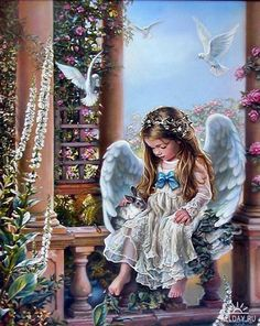 THIS LITTLE ANGEL LIVES IN HEAVEN…..FLUFFY CLOUD SEVEN, TO BE PRECISE…………….ccp