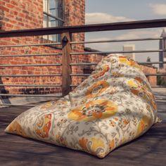 Jaxx 15228164 Indoor/Outdoor Twist Bean Bag, Sisilia Polyester