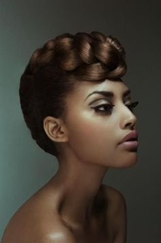 Braided African American short hairstyles