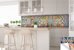 carrelage stickers Ideas Bathroom Tile Sticker Set of 24 Tiles decal mixed Tiles for walls Kitchen decals carrelage stickers Bathroom Tile Stickers, Kitchen Decals, Tile Decals, Kitchen Tiles, Wall Tiles, Vinyl Tiles, Tiles For Walls, Spanish Tile Kitchen, Backsplash Tile