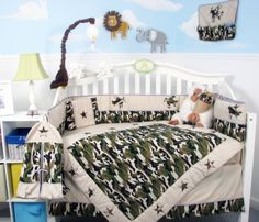 #kids This Set Fits all Toddler Beds and Cribs (Single or Convertible) (USA, UK, AU, Etc..) The Set #includes following 10 pieces: * Hand Embroidery Crib Quilt *...