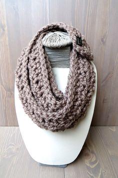 Chunky Crochet Scarf - Etsy.