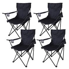 4pcs Portable Folding Chair for Camping Picnic Barbecue Outdoor Camping Hiking ** Click on the image for additional details. #CampingFurniture