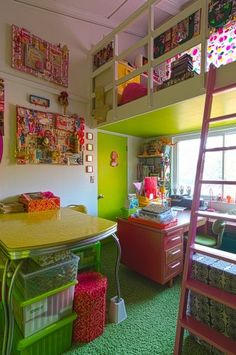 Now that's a colorful craft room!