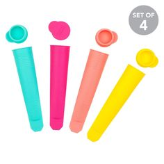 Freeze & SqueezeMake delicious frozen treats all summer long. Just add juice, yogurt or any cheeky beverage and freeze. - 100% food safe- Dishwasher safe- Resistant to boiling water- BPA free- Set of 45 x 4.5 x 19 cm