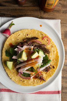 Slow Cooker Barbacoa Style Lamb Tacos - @Denise Woodward | Chez Us