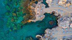 Beautiful Beach at Blue Mediterranean Sea in Greece, Aerial Top Mediterranean Sea, Drone Photography, Greece Travel, Rhodes, Beautiful Beaches, City Photo, Artwork, Top, Blue