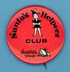 Vintage Santa's Village Helpers Club Pinback Vintage Santas, Vintage Christmas, American History Museum, Santa's Village, Work Inspiration, Xmas Decorations, Good Old, Vintage Antiques, 1960s