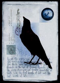Raven collage elements - air by elsh Crow Art, Raven Art, Bird Art, Jackdaw, Crows Ravens, Rabe, Art Journal Inspiration, Mail Art, Spirit Animal