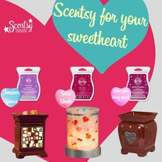 """Say """"I Love You"""" this Valentine's Day with a beautiful gift from Scentsy. Which is your favourite?? """"Charmer"""" (10% off until Jan 31): www.jenniferfry.scentsy.ca/Buy/ProductDetails/30783 """"Heartfelt"""" Plug-in Warmer: www.jenniferfry.scentsy.ca/Buy/ProductDetails/26984 """"Heartfelt"""" Premium Warmer: www.jenniferfry.scentsy.ca/Buy/ProductDetails/DSW-HRTF"""