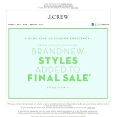 J.Crew - Brand new sale styles added to Final Sale